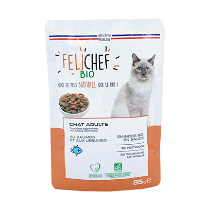 Salmon slices for sterilized cats