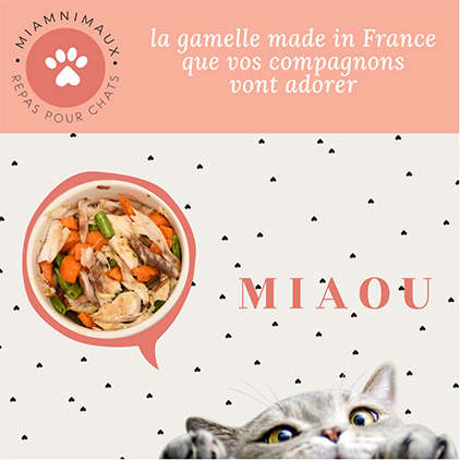 Miamnimaux, repas pour chats,Stand C41